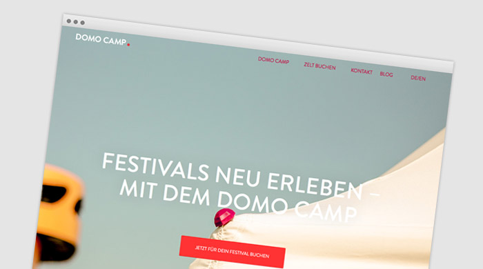 Domo Camp - Festival Service bei Camping Royal