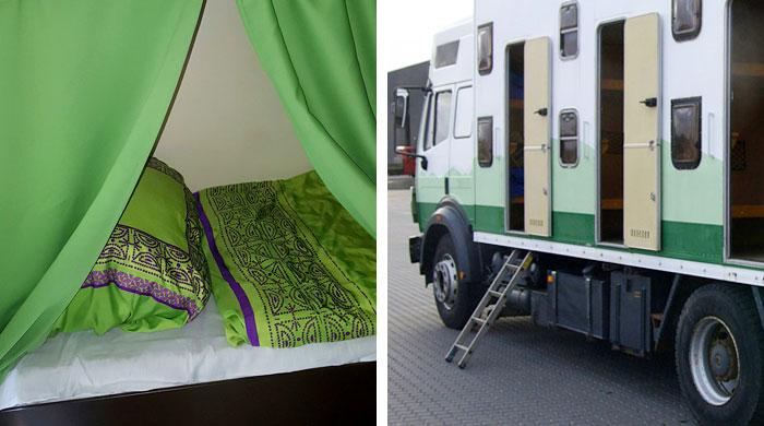 Schlafplatz Sleepertruck von hostival.de - Festival Service