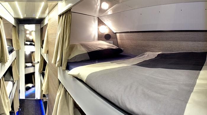 Schlafplatz im Tourbus von hostival.de - Festival Service