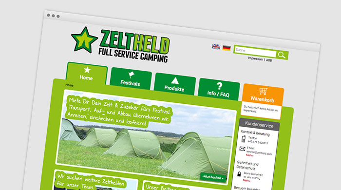 ZELTHELD Full Service Camping - Festival Service bei Camping Royal