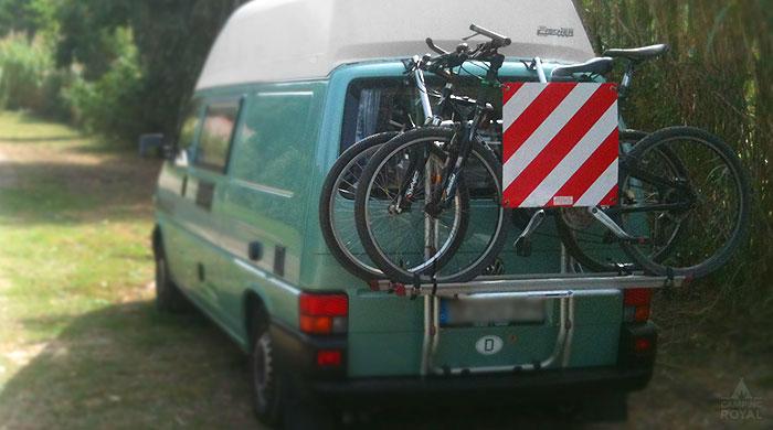 Warntafeln - Sicherheit Fahrrad Tipps bei Camping Royal