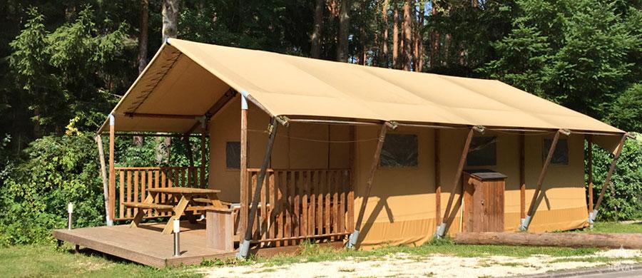 Glamping Safarizelt Glampingplatz Unterkunft bei Camping Royal
