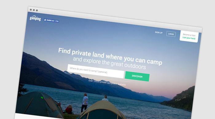 Gamping - Zeltplatzführer - Zeltplatz finden bei Camping Royal