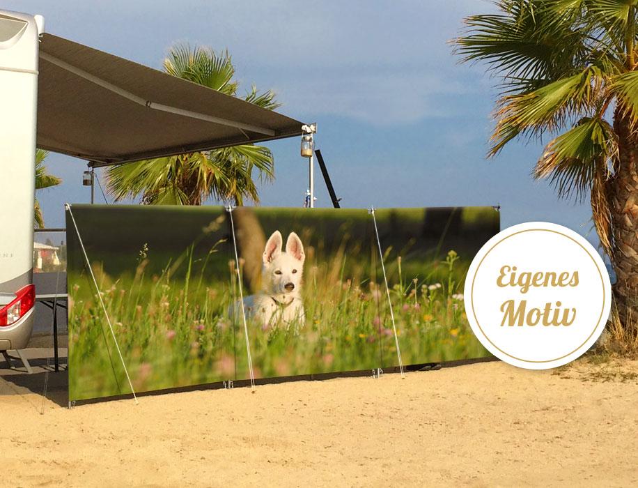 Persönlicher Windschutz Isabella Sichtschutz - Campingartikel selbst gestalten