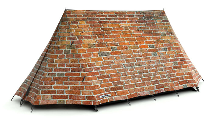 "Zelt personalisieren ""Bricks And Mortar Tent"" - FieldCandy"
