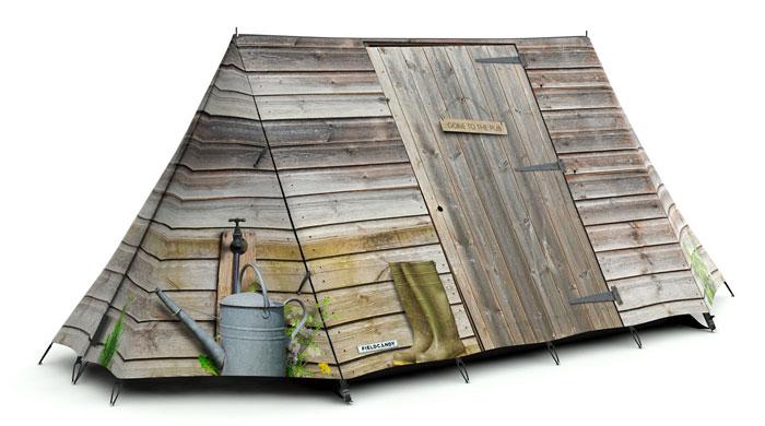 """Zelt personalisieren """"Men Only Tent"""" - FieldCandy"""