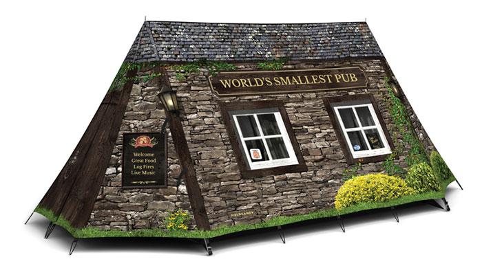 "Zelt personalisieren ""Worlds Smallest Pub Tent"" - FieldCandy"