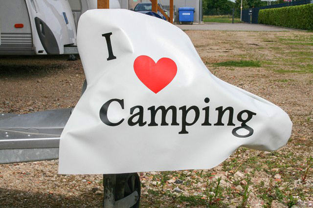 "Deichselhaube ""I Love Camping"" - Haubentraum"
