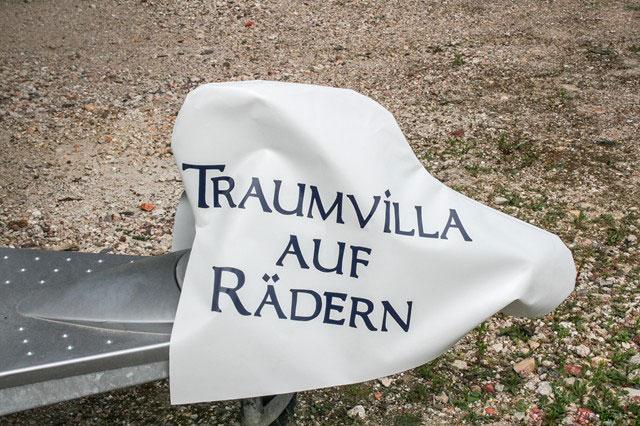 """Deichselhaube """"Traumvilla auf Rädern"""" - Haubentraum"""