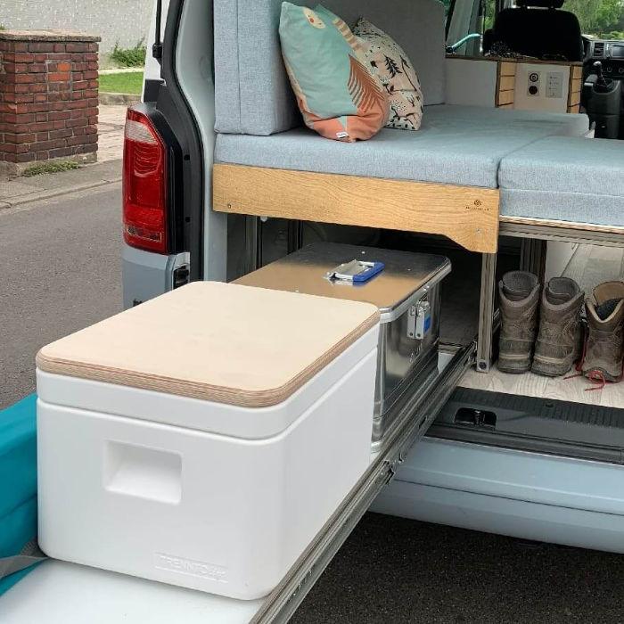 TRELINO® Trenntoilette Campingtoilette Kofferraum VW-Bus – DIY-Ideen Ausbau – Do it yourself