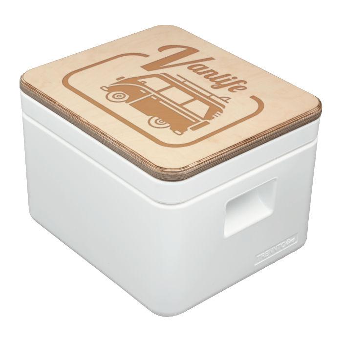 Trenntoilette TRELINO® Brand it – Deckel mit Gravur – Campingtoilette DIY selbst gestalten