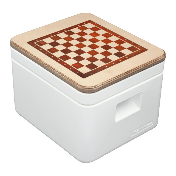 Trenntoilette TRELINO® Spiele-Box – Deckel mit Spielfeld – Campingtoilette DIY selbst gestalten